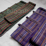 Beautiful color stripe design shoulder bag made in Myanmar