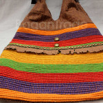 Innle Leather handbag with Stripe design in Myanmar