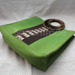 Handmade Green Color Beautiful Cotton Handbag