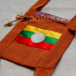Shan Traditional Flag Design Shoulder Bag made in Myanmar