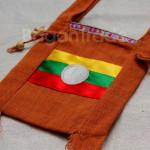 Shan Traditional Flag Design Shoulder Bag made in Myanmar