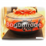 Fish Design Clay Pot Light Red Color