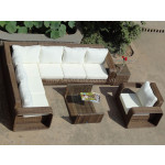 Poly rattan 6pcs/set sofa