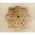 Simple design handmade Bamboo clock in Myanmar