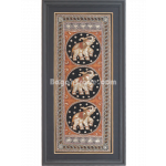 Gold Embroidery of Portrait Shaped White Elephant