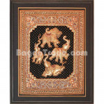 White Elephant Dancing Gold Tapestry