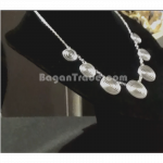 Beautiful design Silver Necklace with 7 Coil pendants