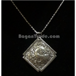 Silver Necklace with Deer pendant design made in Myanmar