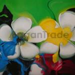 Prangipani flower Acrylic Painting