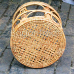 Simple design Circle shape Cane Stool Chair