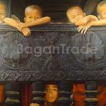 Novices on the balcony of Monastery