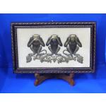 Embossed Painting Three Wise Monkeys