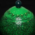 Myanmar Handmade Technique Paint on Coconut Shell Pot