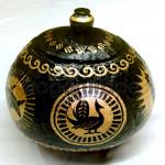 Animal and Arabesque Design Handicraft Coconut Shell made in Myanmar