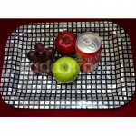 Black and White design Mother of Pearl Tray