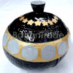 Handmade Myanmar Coin design Coconut Shell Craft