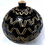 Wavy Design Coconut shell craft made in Myanmar