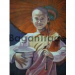 Myanmar Smiling nun oil painting