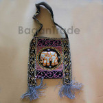 Tapestry Elephant Design Shoulder Bag