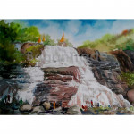 """""""Stupa"""" at the Top of the Waterfall"""
