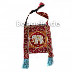 Shoulder Bag Of Tapestry Central Elephant Design