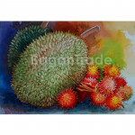 Durian Fruit and Rambutan Fruit