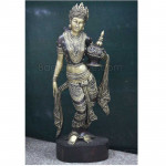 The Beautiful Bagan Lady wood carving Sculpture