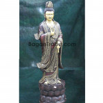 The GuanYin Angle wood carving sculpture