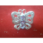 Silver Amethyst Butterfly Ring