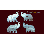 Elephant shape Mother of Pearl Buttons