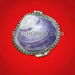 Purple Color Mother Of Pearl Ladies Wallet
