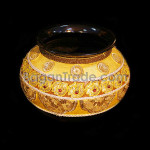 Gold color Water Pot Design in Handmade Lacquer Pot