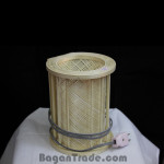Handmade bamboo wall lamp