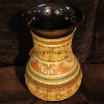 Gold Embroidery with Lacquer Vase in Myanmar