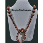 Petrified Wood Necklace with bracelet