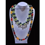 Quartzite, Jade and Peridot necklace