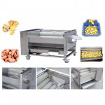 Brush Washing & Peeling Vegetable Machine