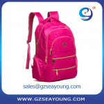 High quality daily laptop school backpack polyester waterproof backpack