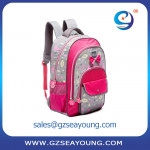 High quality oem school backpack lovely pink school backpack custom schoolbag
