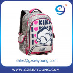 good quality funny nylon laptop school backpack monkey pattern girl school bag