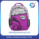 high class student school bag computer backpack for girls