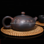 Nixing Pottery Flat Big Stomach Chinese Pure Handmade Ceramic Teapot Best Gift Tea Ware