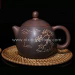 Nixing Qinzhou Teapot Pottery Chubby Shape Hand Painting Pure Handmade Tea Ware