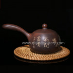 Purple Clay Nixing Pottery Side Handle Teapot Handmade Art Ware