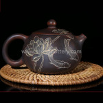 Chinese Nixing Xishi Pottery Pure Handmade Teapot Family Tea Ware Master Tea Pot