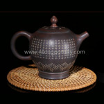 Purple Clay Chinese Nixing Pottery 260ml Buddha Lamp Teapot Master Making Tea Pot Pure Handmade Tea Ware