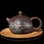 Nixing Pottery Pure Engraving Xishi Teapot Ceramic Tea Pot