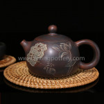 Qinzhou Chinese Nixing Pottery Antiqued Xishi Purple Clay Pot Pure Handmade Tea Pot Tea Ware