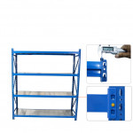 Import china products high quality 4 shelf heavy duty long span shelving
