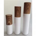 Wood grain plastic lotion bottle